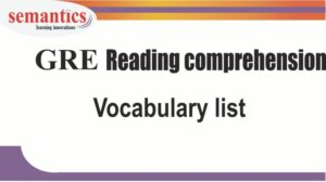 GRE reading comprehension vocabulary list