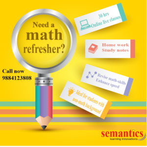 MATH refresher course, GMAT, GRE