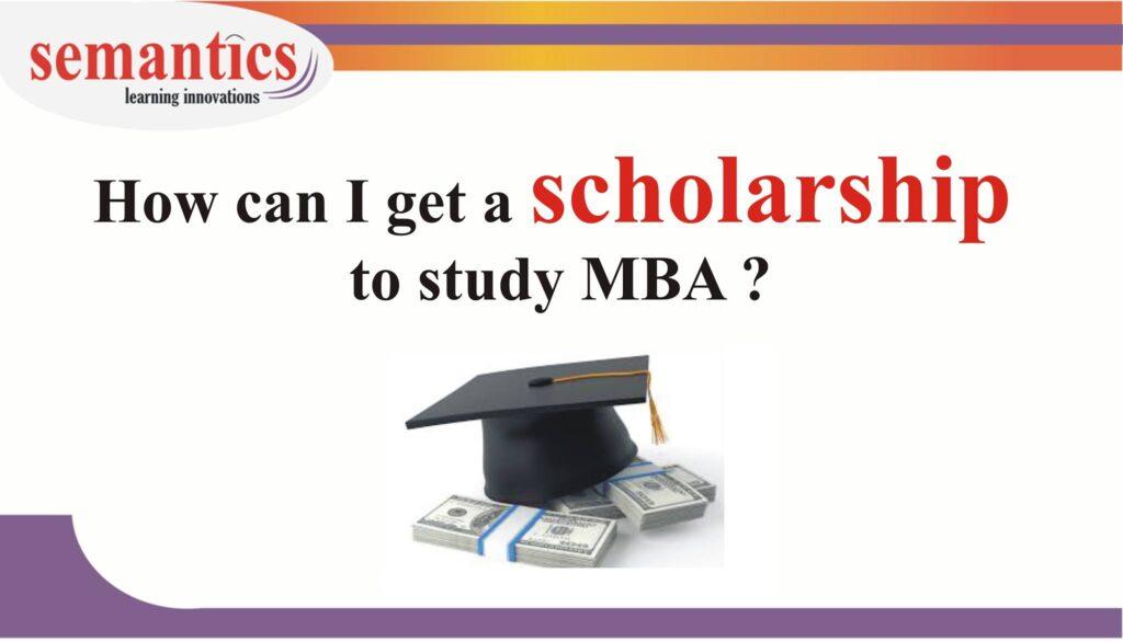 MBA scholarship, MBA funding