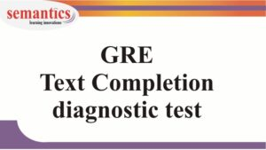 GRE text completion test